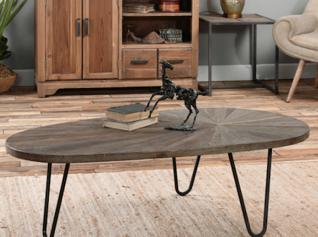 Leveni Wooden Coffee Table, 24459 by Uttermost