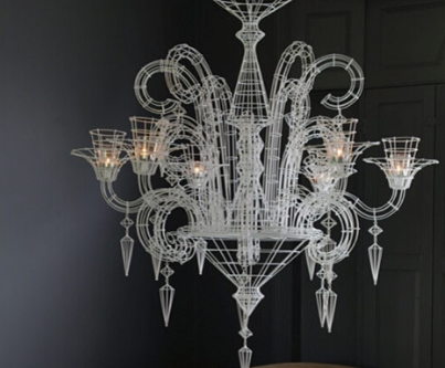 The variety of the materials in modern chandeliers is really astounding. (By Abigail Ahern. Photo by Graham Atkin-Hughes)