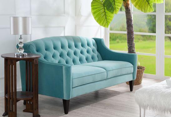 Ken Velvet Sofa, 63001-3-894 by Jennifer Taylor