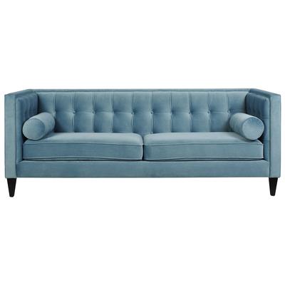 Jack Arctic Blue Velvet Sofa, 8403-3-894 by Jennifer Taylor