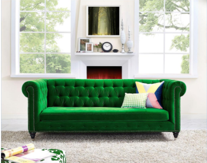 Hanny Green Velvet Sofa TOV-S42 by TOV Furniture