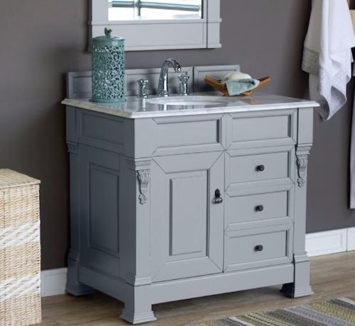 "36"" Single Bathroom Vanity Cabinet W/ Drawers, Urban Gray, 147-114-5596 by James Martin"