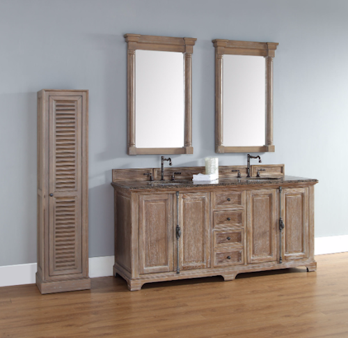 """Providence Collection 72"""" Double Bathroom Vanity, Driftwood, 238-105-5711, by James Martin"""