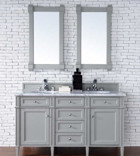 "Brittany 72"" Double Bathroom Vanity Cabinet, Urban Gray, 650-V72-UGR"
