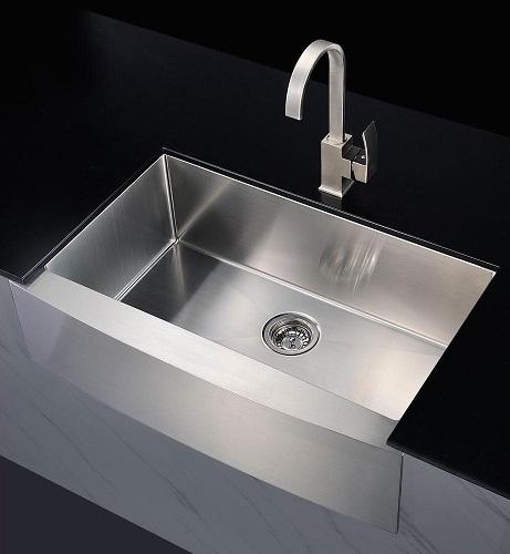 "Elysian 32"" Farm House Single Basin Stainless Steel Kitchen Sink K-AZ3320-1A from Anzzi"