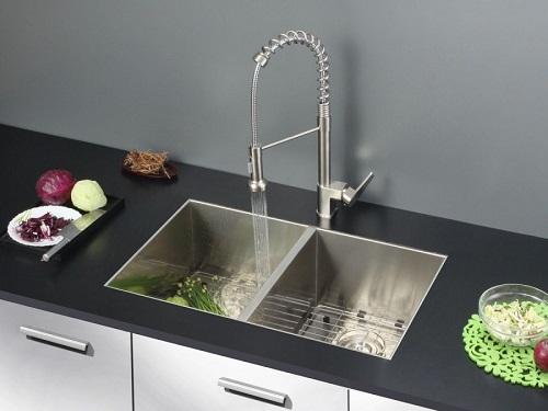 "Nesta 30"" 16 Gauge Undermount Double Bowl Kitchen Sink RVH7350 from Ruvati"