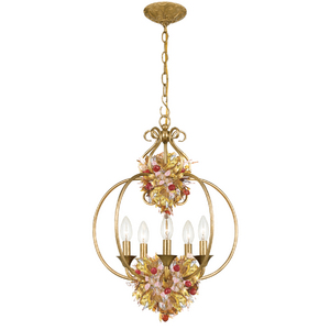 Antique Gold Leaf Wrought Iron Lantern