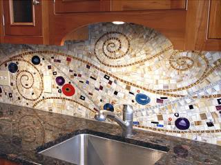 Whimsical Kitchen Mosaic