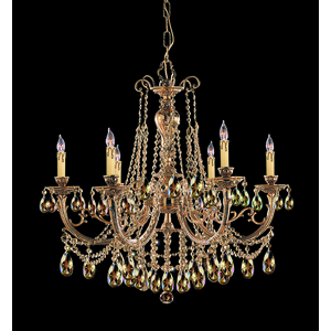 Ornate Candle Chandelier by Crystorama