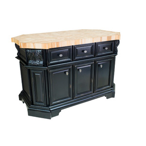Kitchen Island with Black Finish by Lyn Design