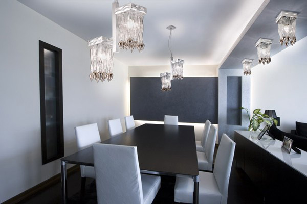 Contemporary Lighting Design for a Dining Room