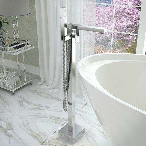 Dawn Series 2-Handle Freestanding Claw Foot Tub Faucet with Hand Shower FS-AZ0028CH from Anzzi