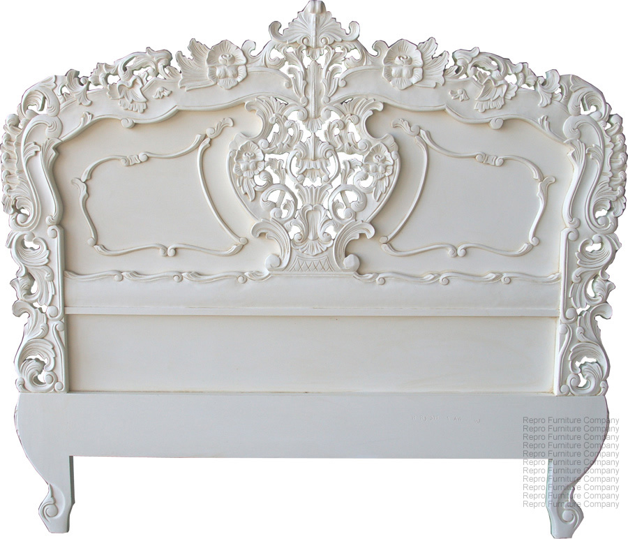 Decorative Hardware Appliques on a Headboard