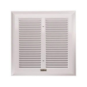 Grill Bathroom Fan with White Finish
