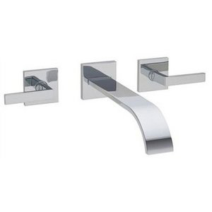 Wall Mounted Bath Filler from The Cisal Wave Collection