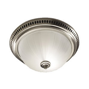 Decorative Satin Nickel Fan and Light