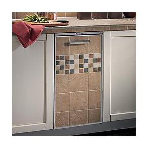 Broan Trash Compactor with Tile Inlay on Door