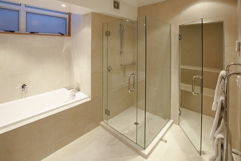 Steam Room in Master Bathroom