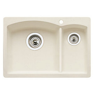 Biscuit Tone Blanco Diamond Prep Sink