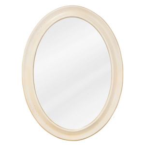 Oval Mirror in Buttercream