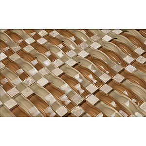 Chestnut Beach Glass Mosaic Tile