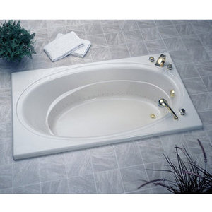 Oval Whirlpool Bathtub from Jacuzzi