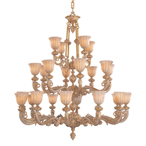 Natural Alabaster Chandelier from Crystorama