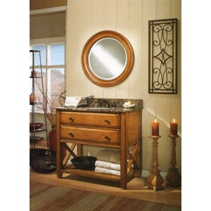 Sagehill Vanity with Double Drawers and Shelf