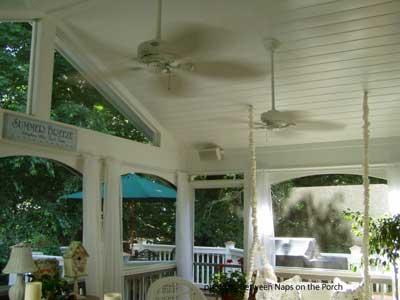 Ceiling Fans on a Porch