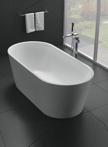 "Alexa 60"" White Acrylic Freestanding Bathtub EVTB1018-59WH from Eviva"
