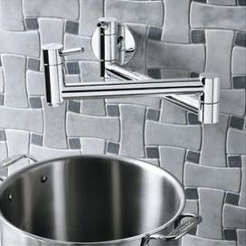 Blanco Cantata Wall Mounted Pot Filler - Chrome
