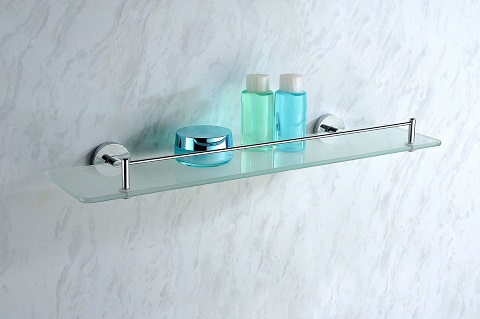 Caster Glass Shelf AC-AZ006 in Polished Chrome from Anzzi