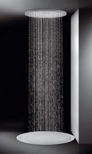 Ceiling Mounted Rainfall Showers Mimic The Feeling Of Standing In The Pouring Rain