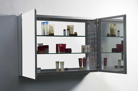 "Confiant 40"" Mirrored Medicine Cabinet JMC-67640 from Virtu USA"
