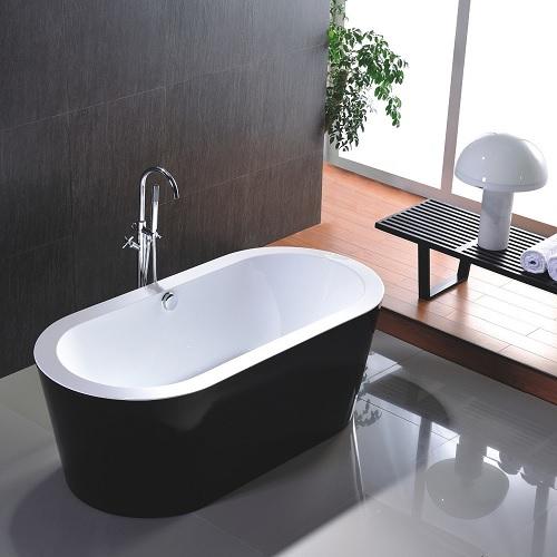 Freestanding Bathtub VA6812-BL in Black from Vanity Art