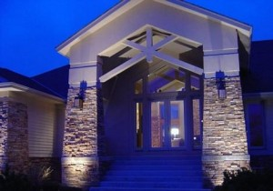 Grazing Lights Can Emphasize The Texture And Architecture Of Your Home