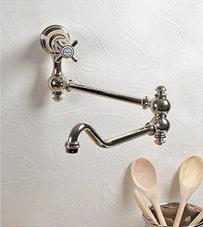 Herbeau Single Handle Wall Mounted Pot Filler from the Royale Series