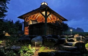 Inside An Outbuilding Or Covered Patio, Downlighting Can Both Light The Inside Of The Structure As Well As Highlight The Architecture