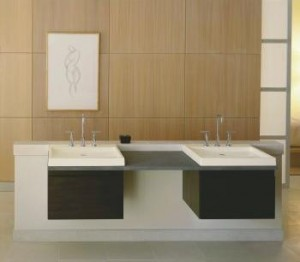 Kohler Purist Double Wall Mount Vanity