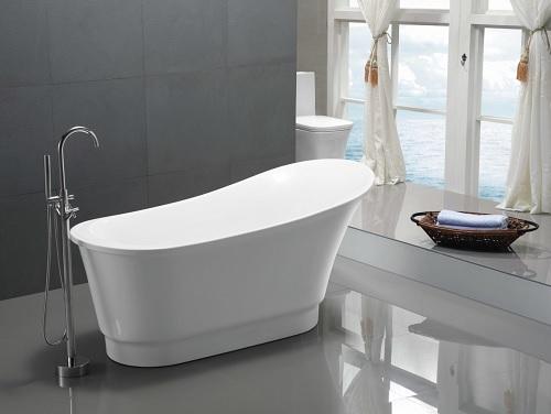 Prima Freestanding Bathtub in White FT-AZ095 from Anzzi