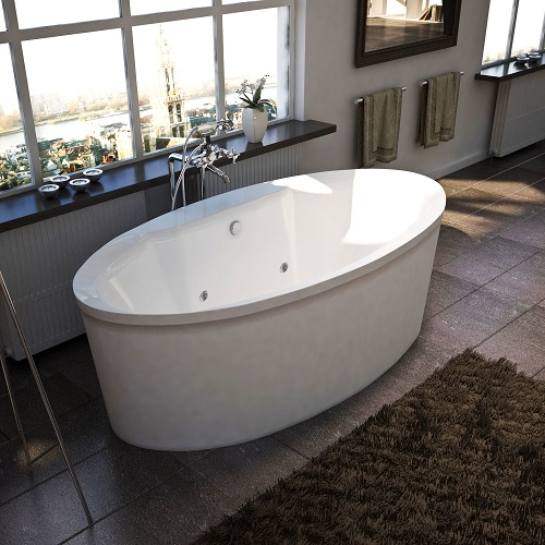 Suisse Rectangular Air and Whirlpool Water Jetted Bathtub 3468SD from Atlantis