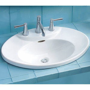 Toto Drop In Lavatory Sink with 8 Inch Centers