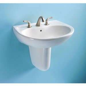 Toto Wall Mounted Lavatory Sink with 8 Inch Faucet Centers