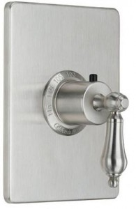 California Faucets Thermostatic Valve with Rectangular Trim Plate Decorative Handle