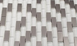 Glass Mosaic Tile Aria Steel Ice
