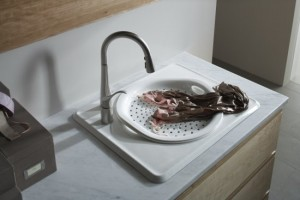 Kohler Single Basin Single Left Hand Faucet Hole Under Counter Bar Sink from the Tandem Series