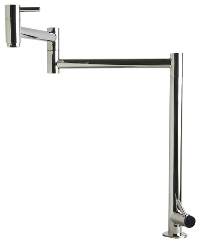 Polished Stainless Steel Retractable Pot Filler Faucet AB5018-PSS from Alfi