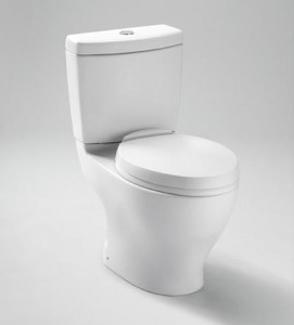 Toto Elongated Bowl Dual Flush Toilet and Tank Less Seat