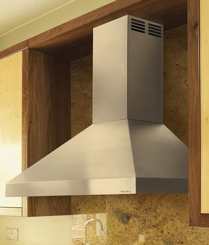 "Wall Mount 36"" Chimney Hood With Duct-Free Ventilation PDAH14K36SS from Vent-A-Hood"