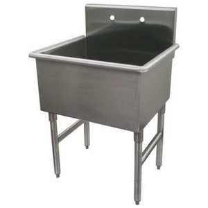 Whitehaus Noah Single Basin 27 Inch Free Standing Utility Sink